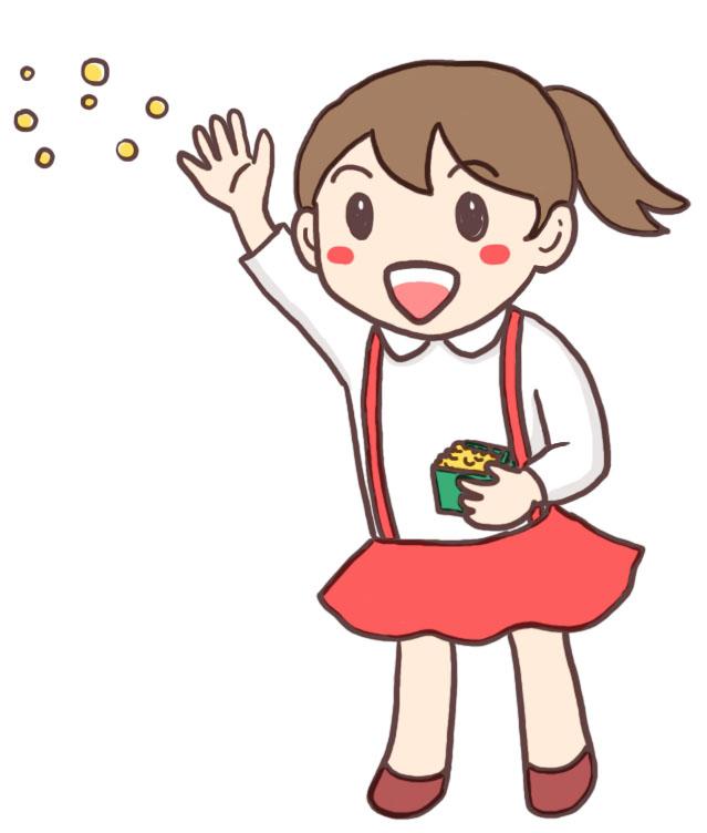 豆まきイラスト(女の子)