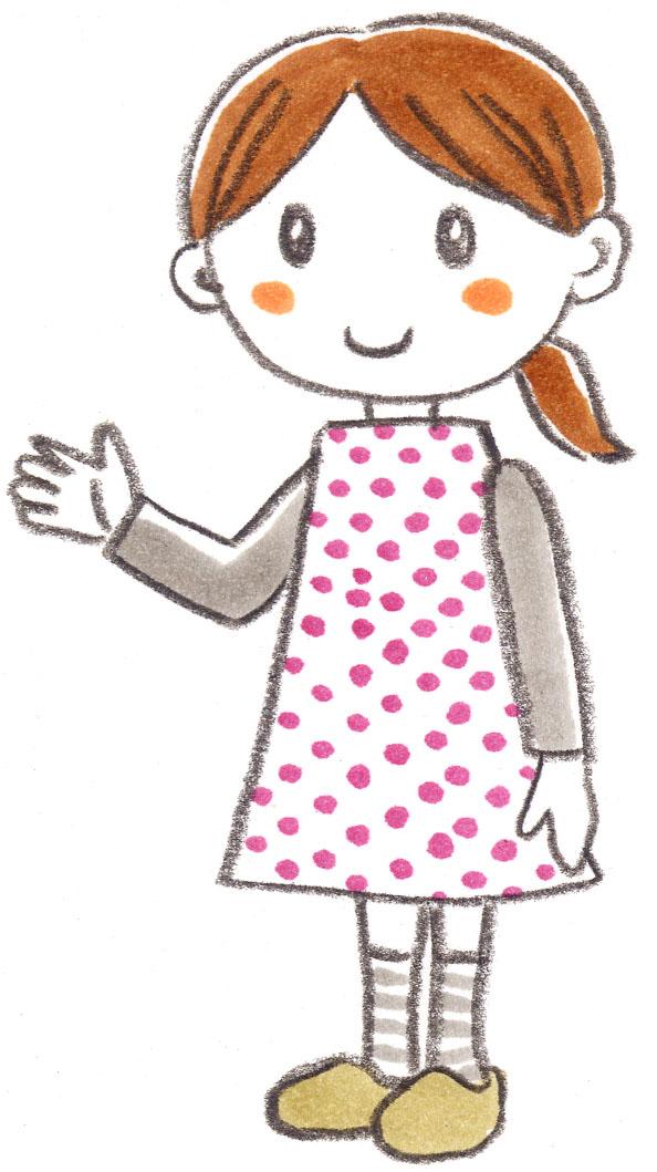 幼児 幼児の絵本 : 手書きの女の子イラスト | FLAT ...
