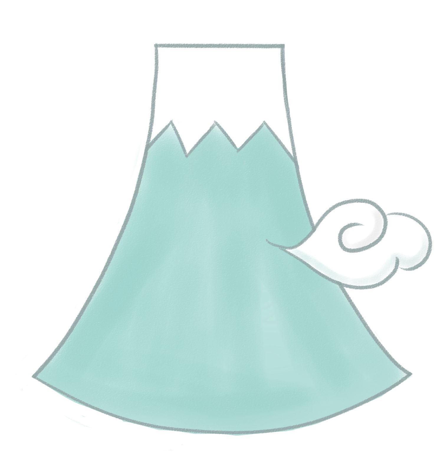 年賀状 2015 ひつじ 年賀状 : 雲をまとった富士山のイラスト ...
