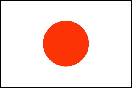 日本の国旗 Flat Design