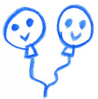 幼児 幼児 積み木 : 風船の手書きイラストです ...