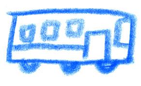 バスのイラスト Flat Design
