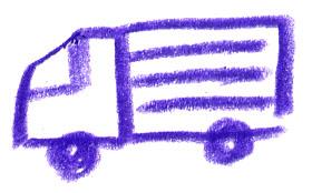トラック/手書きイラスト