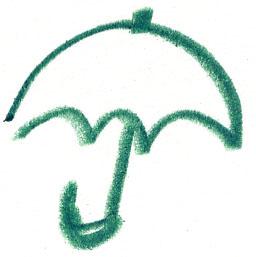 傘/アイコン風イラスト