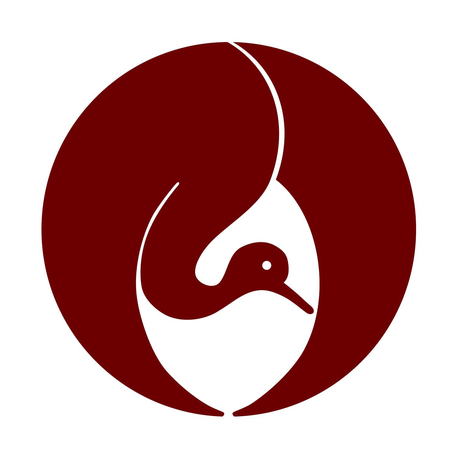 鶴の家紋 Flat Design