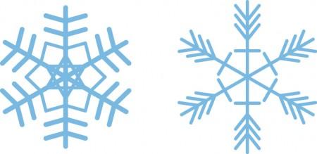 雪の結晶/フリー素材