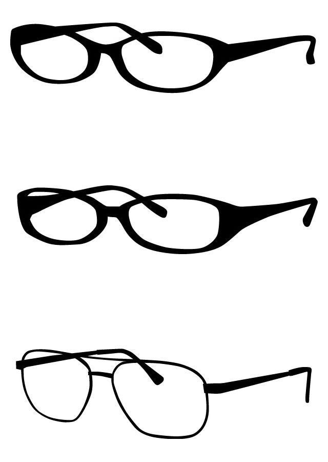 メガネ シルエット イラストベクターデータ Flat Design