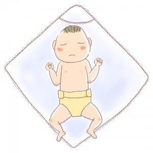 新生児の赤ちゃん・イラスト