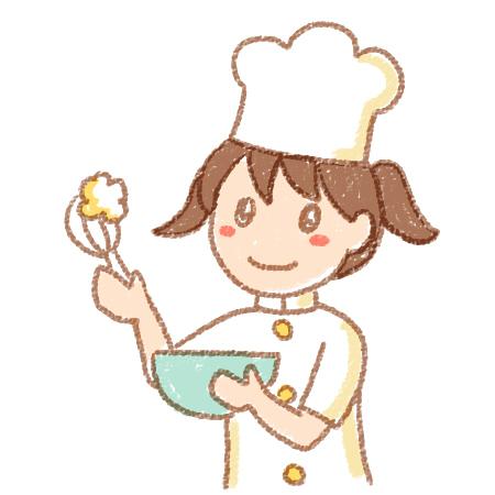 子どもパティシエお菓子作りイラスト Flat Design