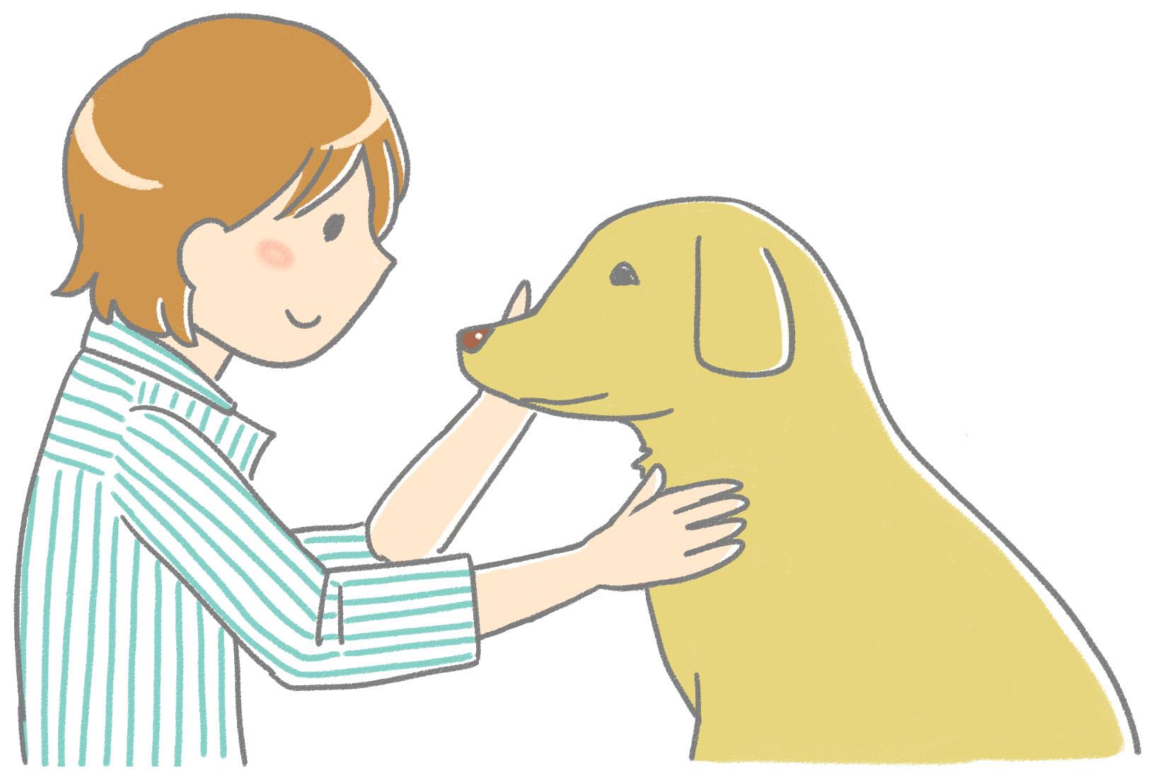 犬の手書きイラスト フリー素材 | flat design::